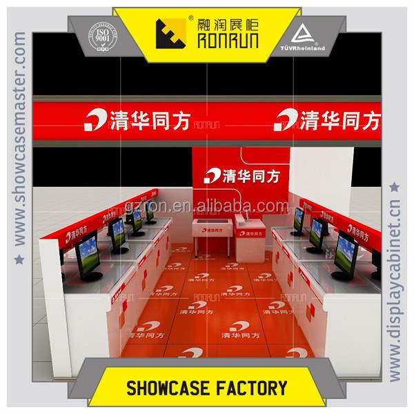 2017 Fashion high quality display counter for mall kiosk cell phone store fixtures displays