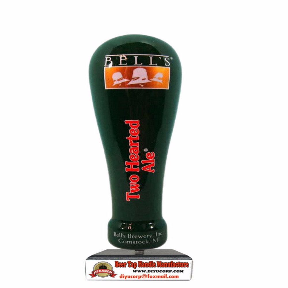 TWO HEADTED custom ceramic BEER TAP HANDLE