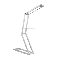 Aluminum touch battery rechargeable led desk lamp with usb cable