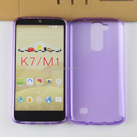 New Coming 0.3mm Crystal Clear Transparent Silicone TPU Case Cover for LG K7 Mi