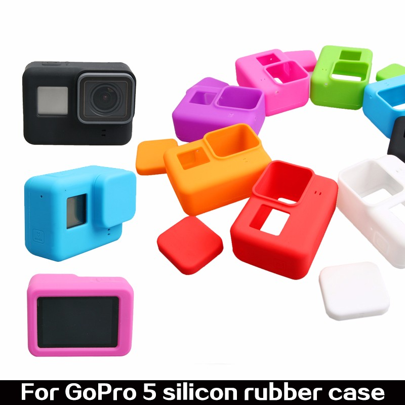 Hero5 accessories Colorful Silicone Protective Housing Soft Cover Skin Case For Gopro Hero 5 Action Camera