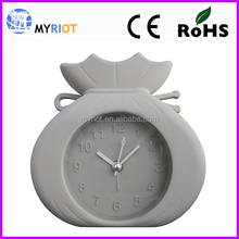 5.5inch 13cm promotion silicon world time clock