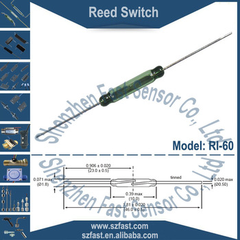 COTO Brand N/O SPST 10Watt 10mm Green Glass Normally Open Magnetic Actuated Contact Reed Switch RI-60