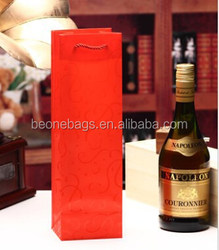 China Factory Price Eco Friendly Reusable Customized Paper Wine Gift Bag