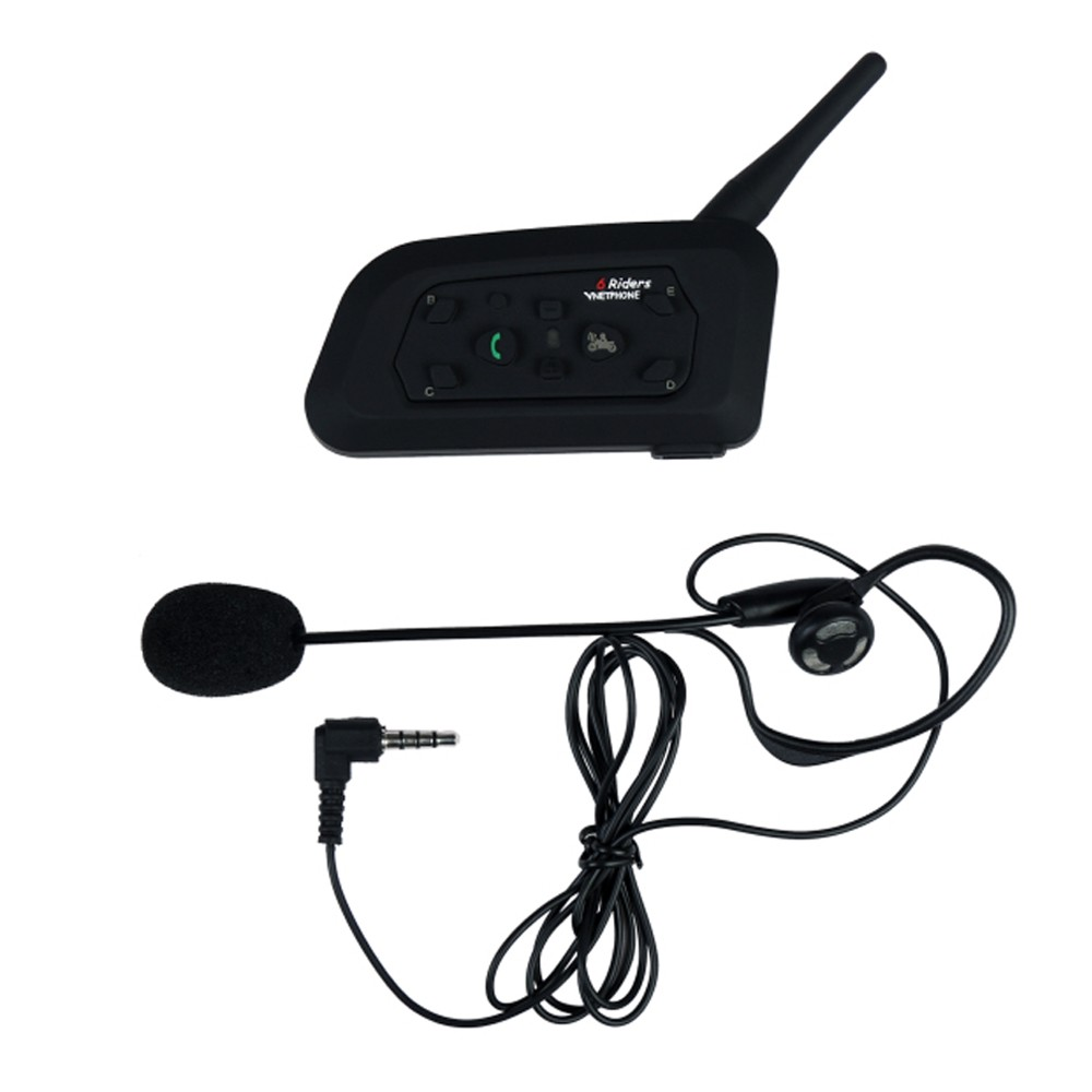 2017 Hot Sale Motorcycle Bluetooth Intercom V6 1200m Bluetooth Helmet Intercom