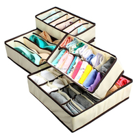 Custom Underwear Sock Tie Drawer Closet Organizer Storage Box with Lid