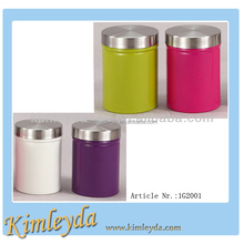Air-tight storage canister with stainless steel lid