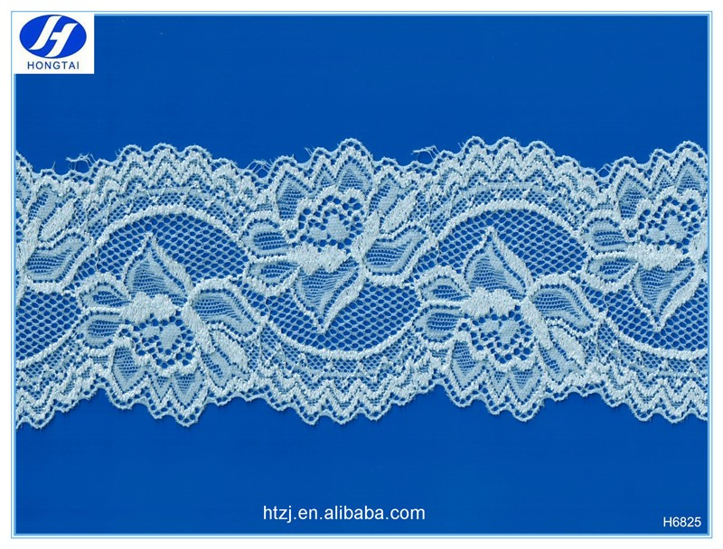 Hongtai new design fancy lace trim stretch french lace trimming