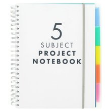 A4 Plastic Cover Spiral Notebook with colored index tab divider