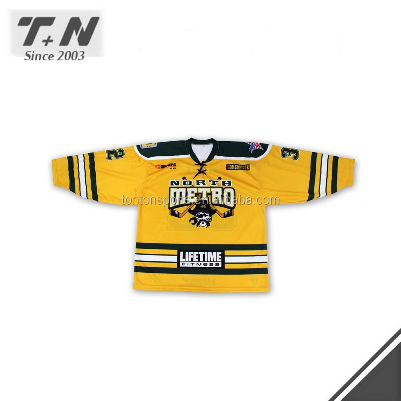 high quanlity cheap custom made ice hockey jersey