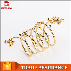 Saudi Design Fashion Jewellery Products Flower Shape Gold Plated Ring