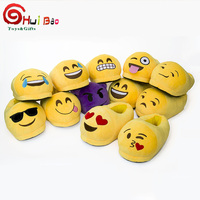 New design models stuffed adults plush funny emoji slipper manufacturer china
