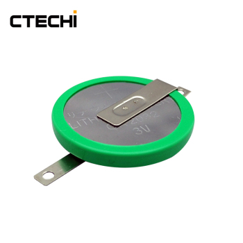 3V CR2032-1F2 Coin cell with solder tabs battery for remote low power sensors