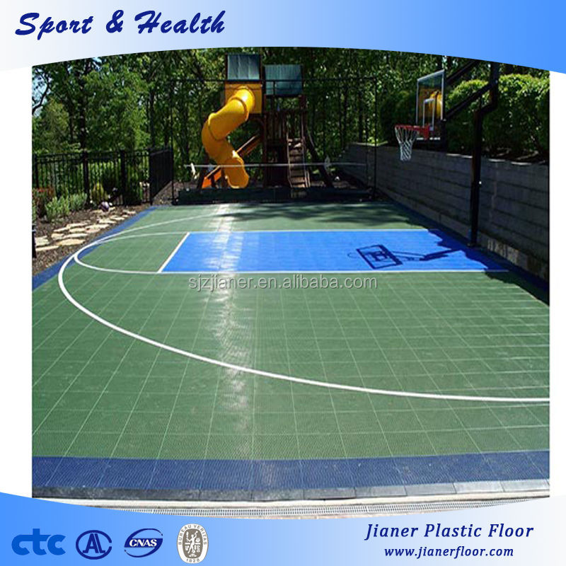 Plastic Outdoor Basketball Field Floorings