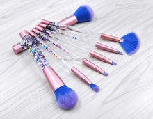 Newest Crystal Comestic Llme Mermaid Brush Without Logo