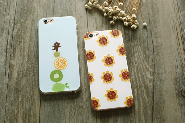 Wonderful sunflower grizzly bear Solid 3D digital color printing phone cases for iphone5