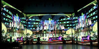 multifunction led display, showing vivid effects of video, animation, dynamic graphics, texts