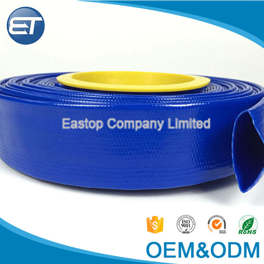 EASTOPS Lay Flat Water Hose Pipe 3 Inch PVC Discharge Hose Manufacturer For Agriculture Project