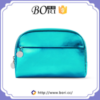 beauty candy color stylish shiny glossy pu cosmetic bag
