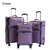 2017 fashionable hot sale waterproof luggage set 360 degree wheel real push trolley travel bag