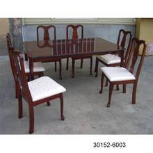 Queen Ann 7pcs Wooden Dining Set 30152-6003