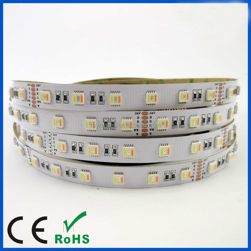 5050rgbwww flexible led strip light 24V 16.8w/<strong>m</strong>