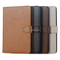 Business style crazy horse grain leather case for iPad mini 4