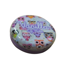 Custom round lip balm container/metal tin box/lip balm tins