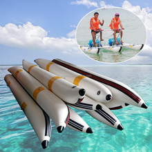 Custom Size PVC inflatable banana tubes floating water bike buoy for sale