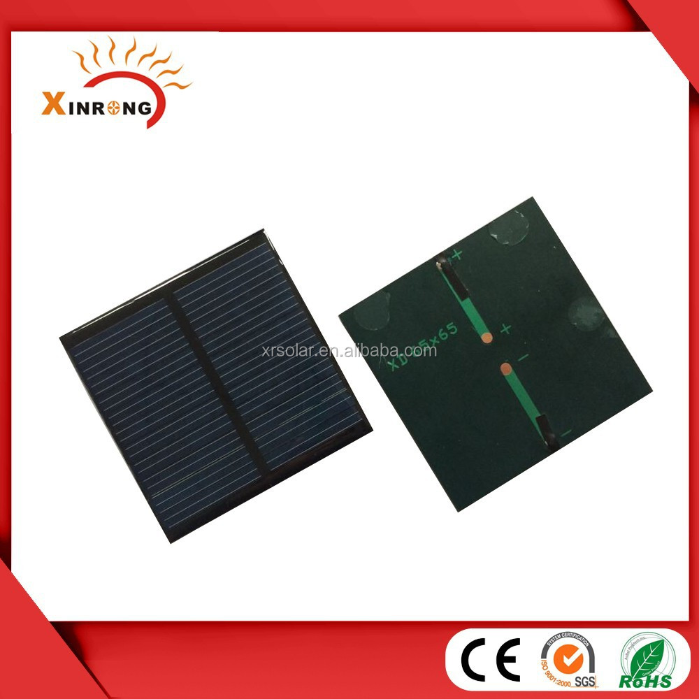 60*60mm Epoxy Resin Encapsulation 3v Solar Cells