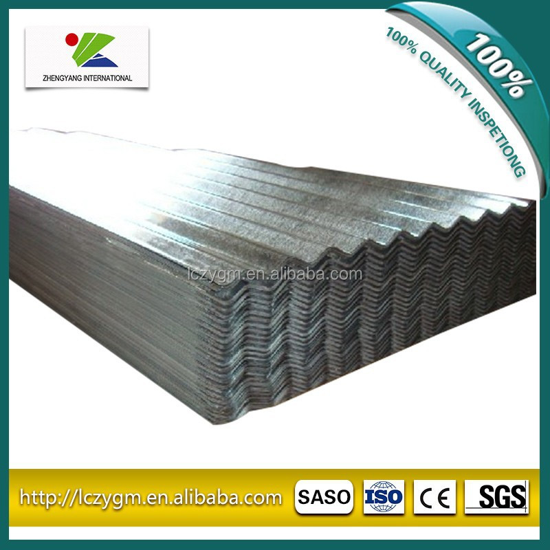 SGCC galvanized corrugated steel sheets for roof