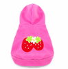 Winter Cat Dog Clothes Pet Dog Cute Strawberry Hoodie Costumes Outfit