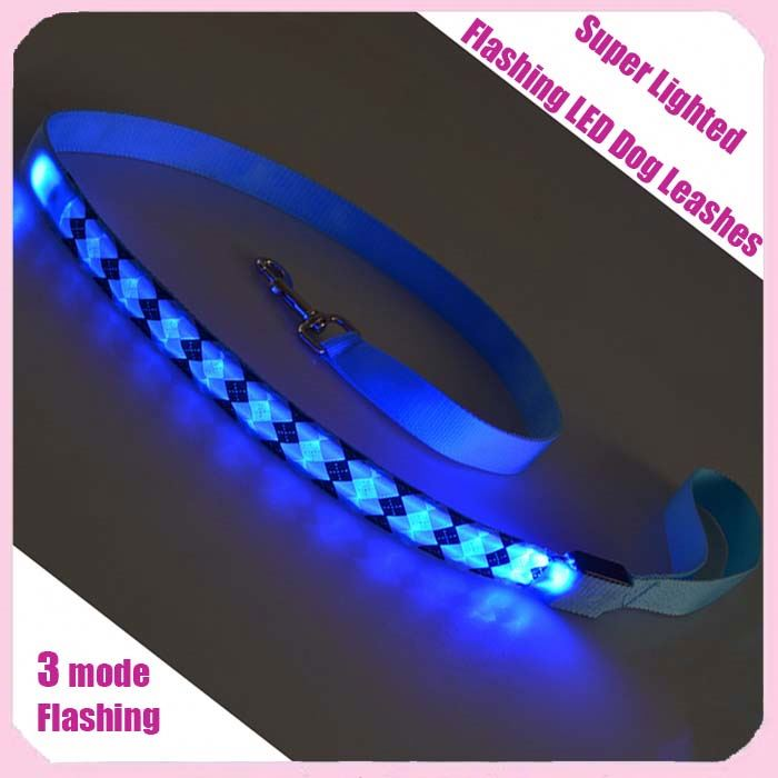 Wholesale Super Lighted Flashing LED Dog Leashes