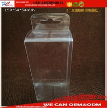 customerized blister box packaging PVC pp pet small clear plastic box with hanger hole