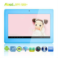 "7"" Android 4.0 dual core Q88 Cortex A9 1.5GHz 512MB RAM 4GB ROM Wifi Dual Camera 5 Point Capacitive Tablet PC"