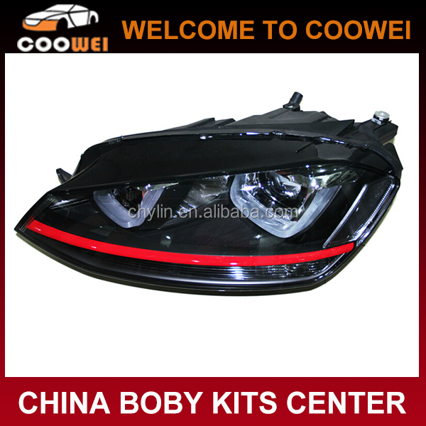 MK7 GTI style ABS Front bumper head lamp headlight for VW Golf 7