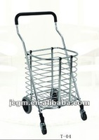Folding fabric shopping cart