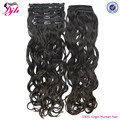 Clip In Human Hair Extension, Indian Remy wholesale thick clip in extentions Aliexpress Brazilian Hair Virgin human hair bulk