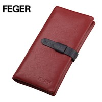 FEGER custom leather card wallet ladies clutch bag purse wholesale