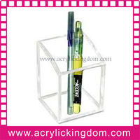 clear square acrylic pen holder