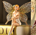 New product custom resin figurines manufacturer/customized mini Floral fairy Girl Wings resin figures for home decor