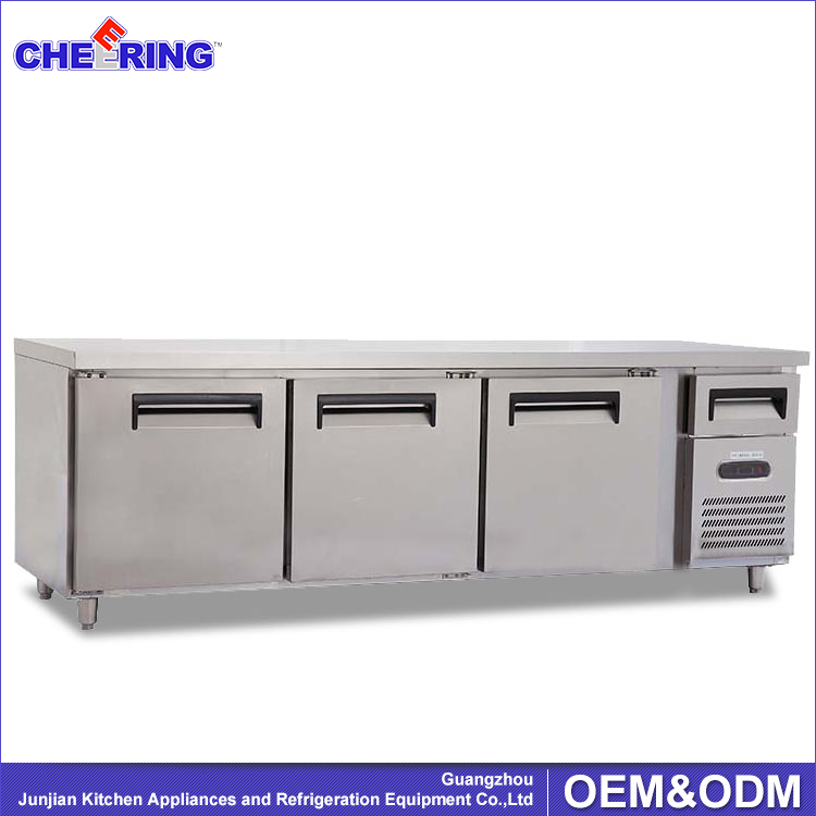 2.4 meter Refrigerated Worktable , table top cold cabinet refrigerator