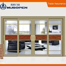 Heavy Duty Aluminum outside office used glass room Lift and Sliding Door with Built-in Magnet Blinds