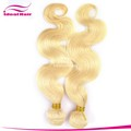 Hot sale hair extensions blonde weft wavy