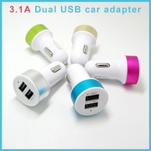 New arrival customize Colorful mini Universal car charger , single / dual usb car charger for mobile phone