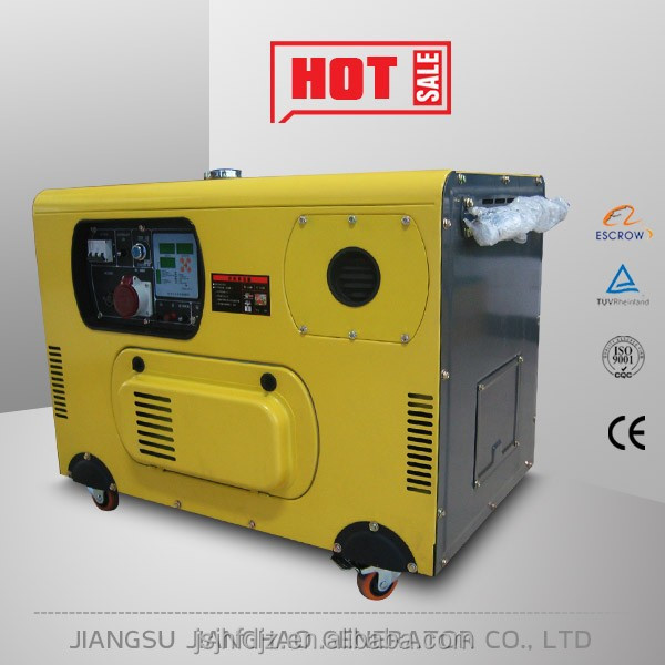 3kW silent type air-cooled diesel generator portable generator with wheels price