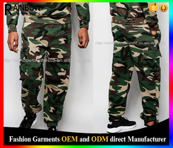 Custom mens cool vintage camo joggers with utility pockets