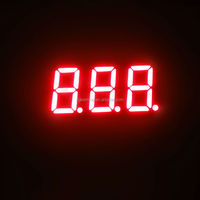 Small 7segment led digital display red color three 3 triple digit 0.36 inch