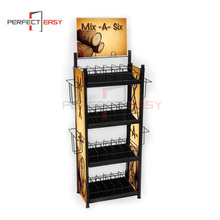 Classic detachable floor chocolate display stand / chocolate bar display for supermarkets