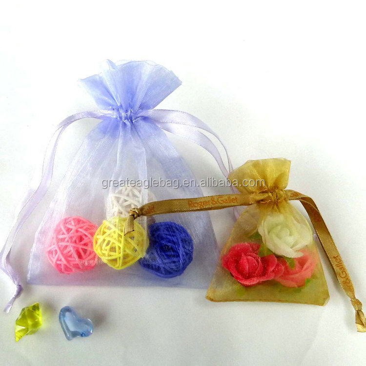high quality round organza bags